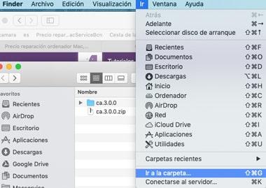 Cómo ir a la carpeta biblioteca en MacOS